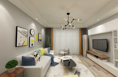 84平华辰家园现代二居装修效果图